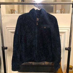 Pendleton Fluffy Jacket With Plaid Pocket